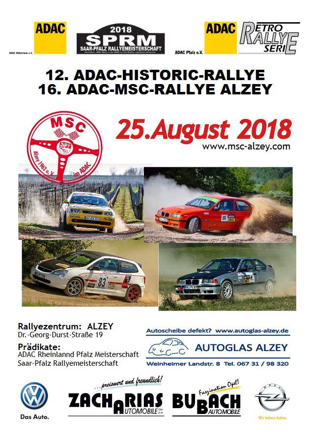 MSC Rallye Plakat 2018
