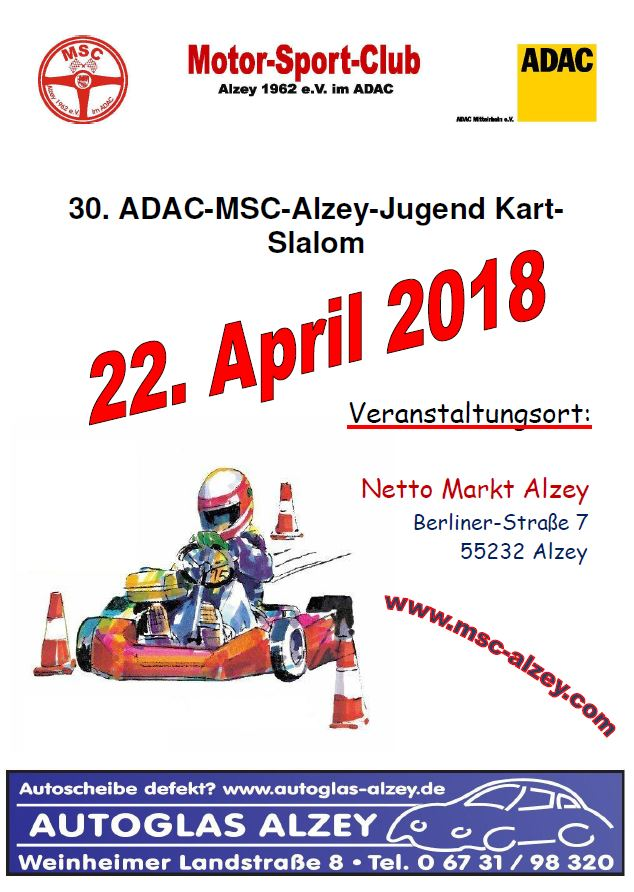 Ausschreibung Kart Slalom 2018